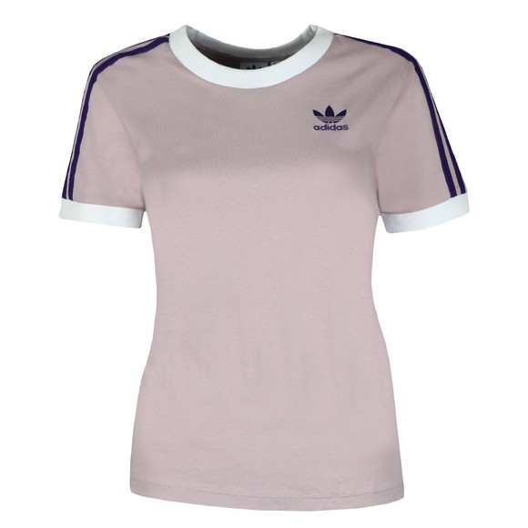 adidas Originals Womens Purple 3 Stripes T-Shirt main image