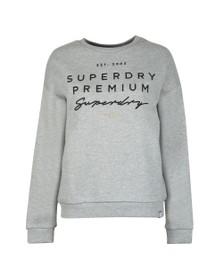 Superdry Womens Grey Applique Crew Sweatshirt