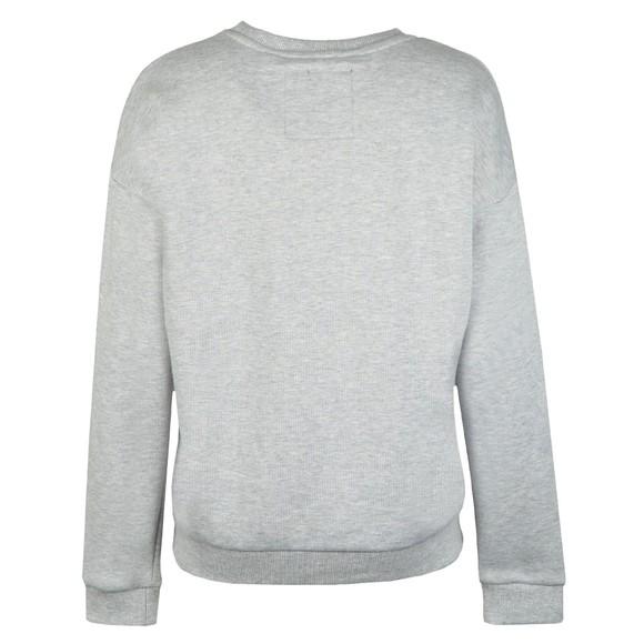 Superdry Womens Grey Applique Crew Sweatshirt main image