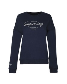 Superdry Womens Blue Lucy Lounge Sweat Top