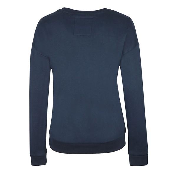 Superdry Womens Blue Applique Crew Sweatshirt main image