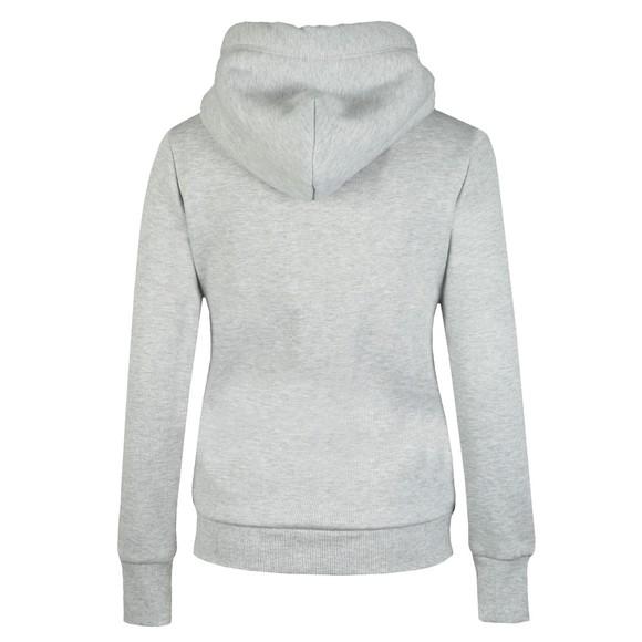 Superdry Womens Grey Applique Zip Hoody main image