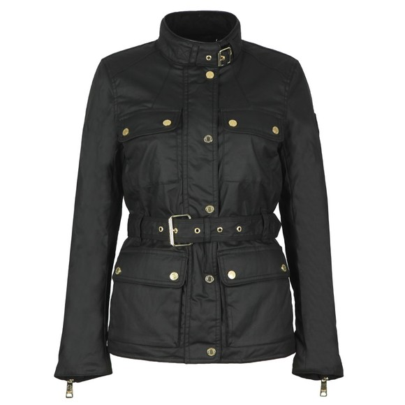 Holland Cooper Womens Black Wax Heritage Jacket