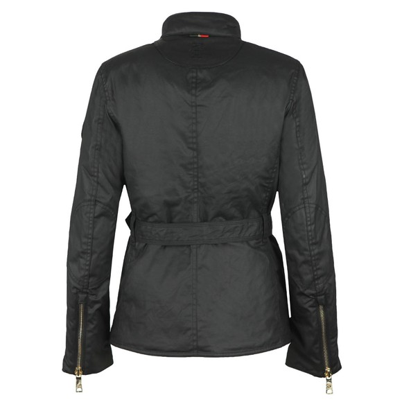 Holland Cooper Womens Black Wax Heritage Jacket main image
