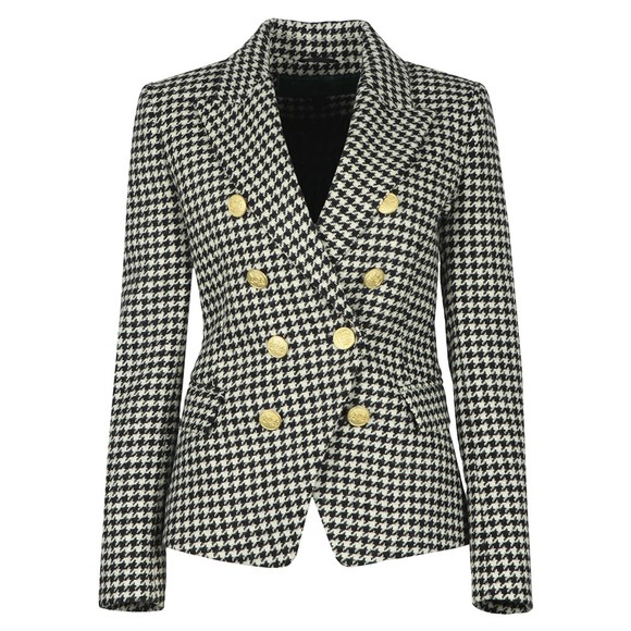 Holland Cooper Womens Houndstooth Knightsbridge Blazer