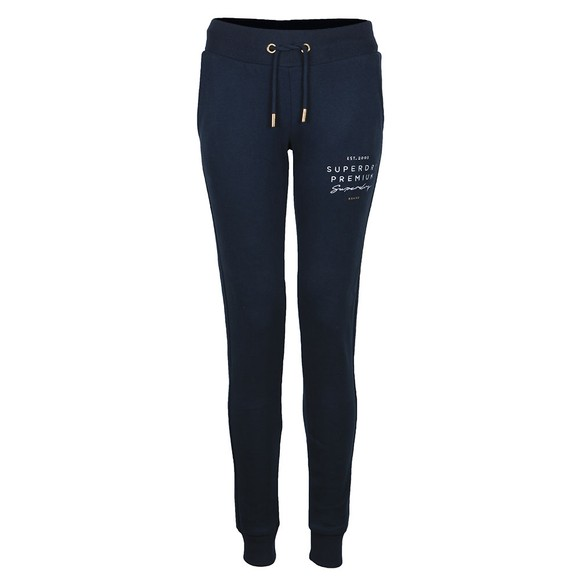 Superdry Womens Blue Applique Jogger main image