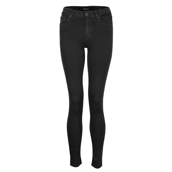Replay Womens Black Hyperflex Colour Edition Jean main image