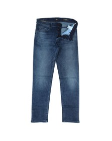 BOSS Casual Mens Blue Taber Tapered Jean