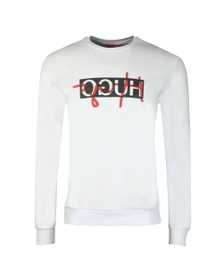 HUGO Mens White Dicago201 Sweatshirt