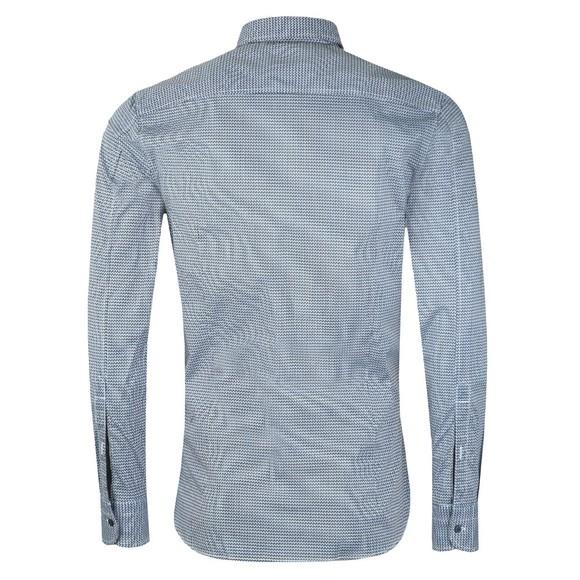BOSS Mens Blue Casual Magneton Patterned Shirt main image