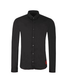 HUGO Mens Black Ero 3 Extra Slim Shirt