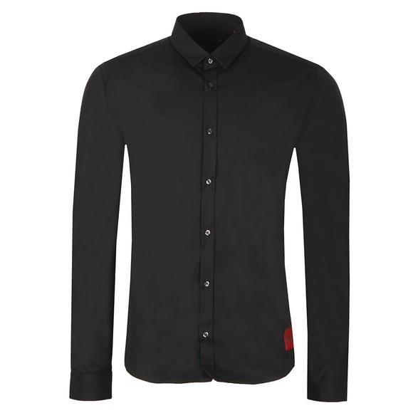 HUGO Mens Black Ero 3 Extra Slim Shirt