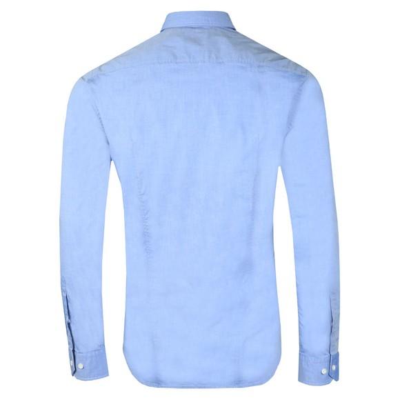 BOSS Mens Blue Athleisure Biado Regular Stretch Shirt main image