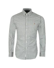 Polo Ralph Lauren Mens Grey Slim Fit Check Flannel Shirt