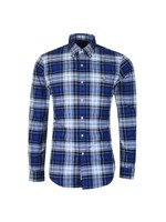 Slim Fit Check Flannel Shirt