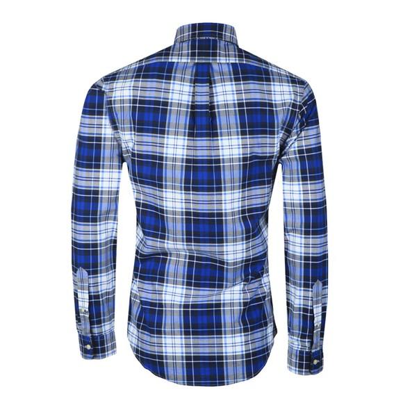 Polo Ralph Lauren Mens Blue Slim Fit Check Flannel Shirt main image
