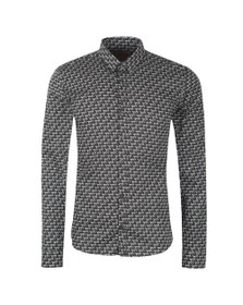 HUGO Mens Black Ero3 W Pattern Shirt