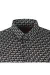 HUGO Mens Black Ero3 W Pattern Shirt