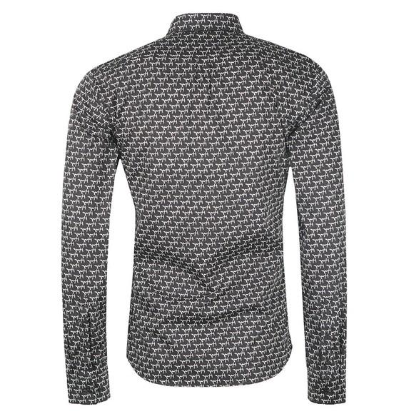 HUGO Mens Black Ero3 W Pattern Shirt main image
