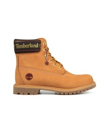 Timberland Womens Beige 6 Inch Logo Collar Boot