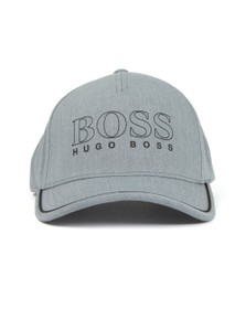 BOSS Mens Grey Athleisure Basic Outline Cap