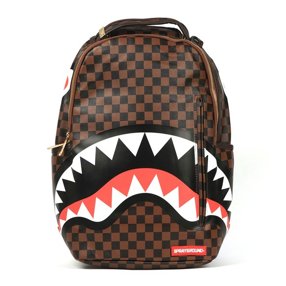 Sprayground Mens Brown Sharks In Paris Backpack
