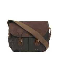 Barbour Lifestyle Mens Green Wax Leather Tarras Bag
