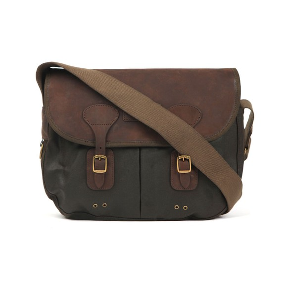 Barbour Lifestyle Mens Green Wax Leather Tarras Bag main image