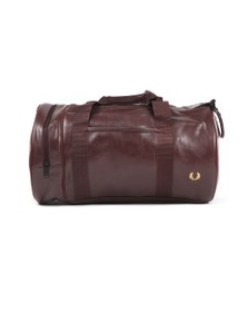 Fred Perry Mens Red Tonal Barrel Bag