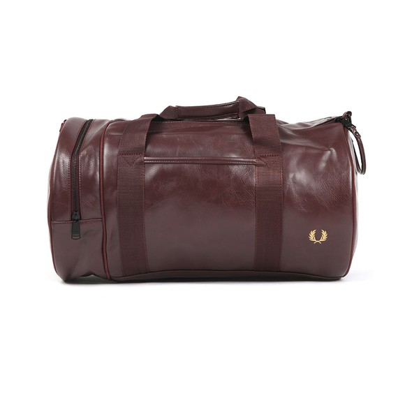 Fred Perry Mens Red Tonal Barrel Bag main image