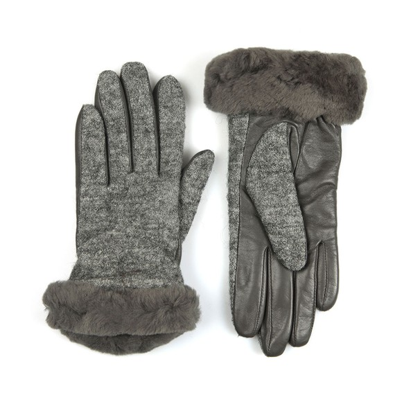 Ugg Womens Grey Fabric Leather Shorty Glove main image