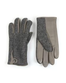 Ugg Mens Grey Snap Tab Fabric Tech Glove