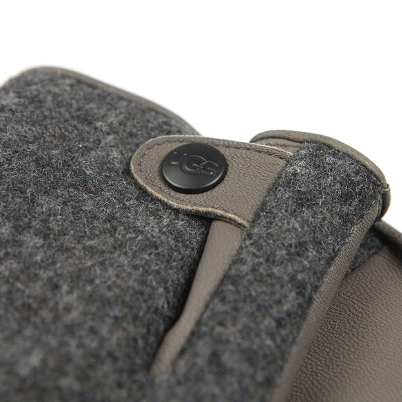Ugg Mens Grey Snap Tab Fabric Tech Glove main image