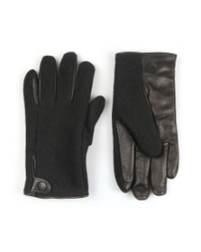 Ugg Mens Black Snap Tab Fabric Tech Glove