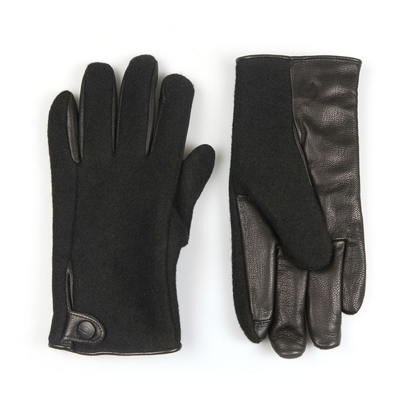 Ugg Mens Black Snap Tab Fabric Tech Glove main image