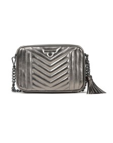 Michael Kors Womens Grey Jet Set Charm Crossbody