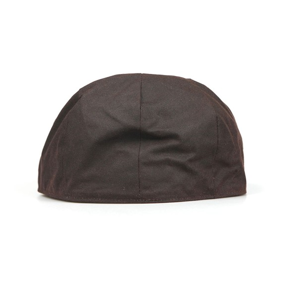 Barbour Countrywear Mens Brown Wax Flat Cap main image