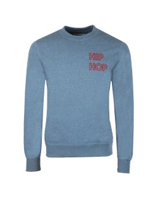 Maison Labiche Mens Blue Hip Hop Sweatshirt