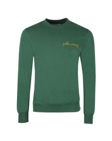 Maison Labiche Mens Green Public Enemy Sweatshirt