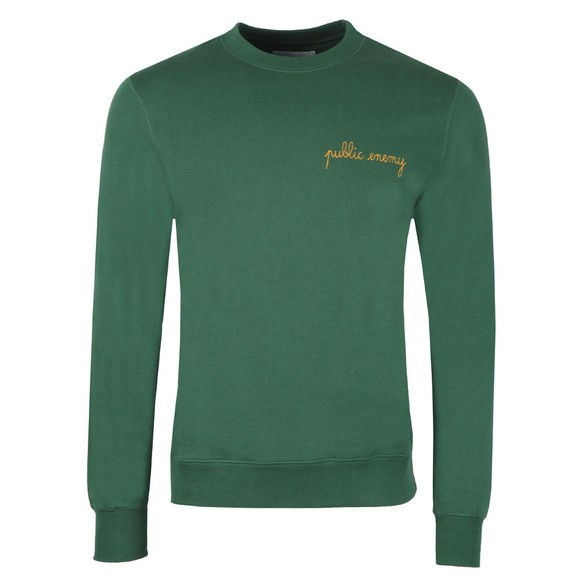 Maison Labiche Mens Green Public Enemy Sweatshirt main image