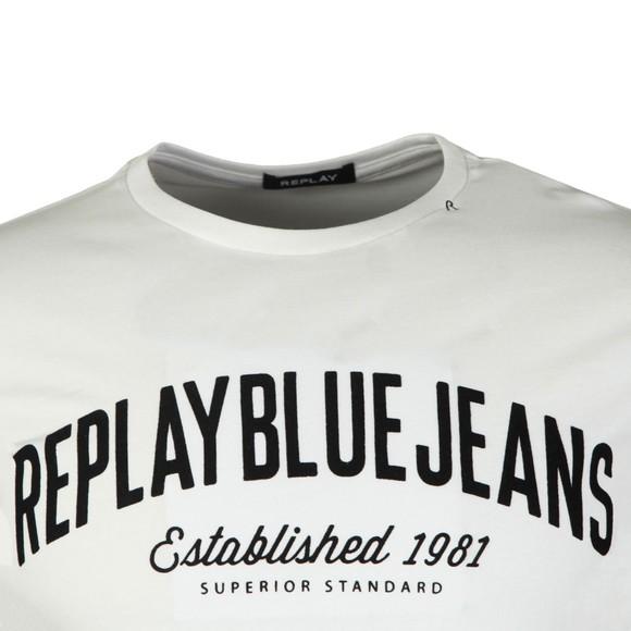 Replay Mens White Bright Logo T-Shirt main image