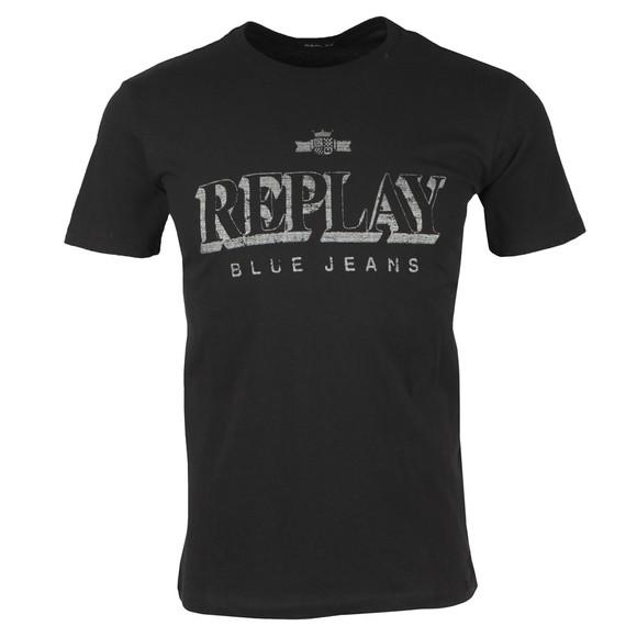 Replay Mens Black Logo T-Shirt main image