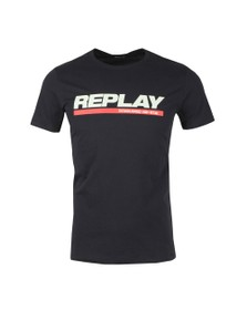 Replay Mens Black Logo T-Shirt