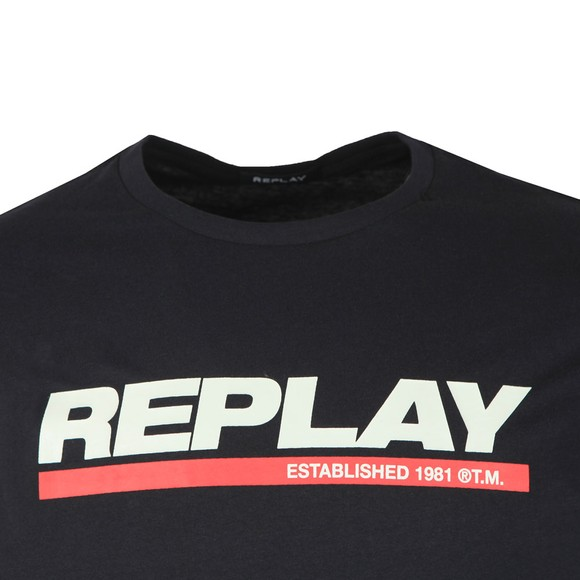 Replay Mens Black Logo T-Shirt main image