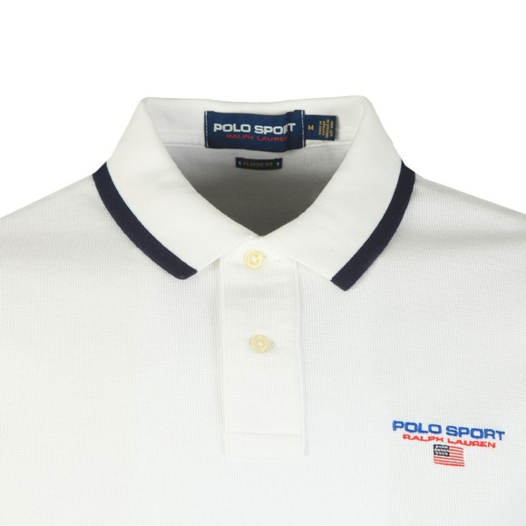 Polo Sport Ralph Lauren Mens White Chest Logo Polo Shirt