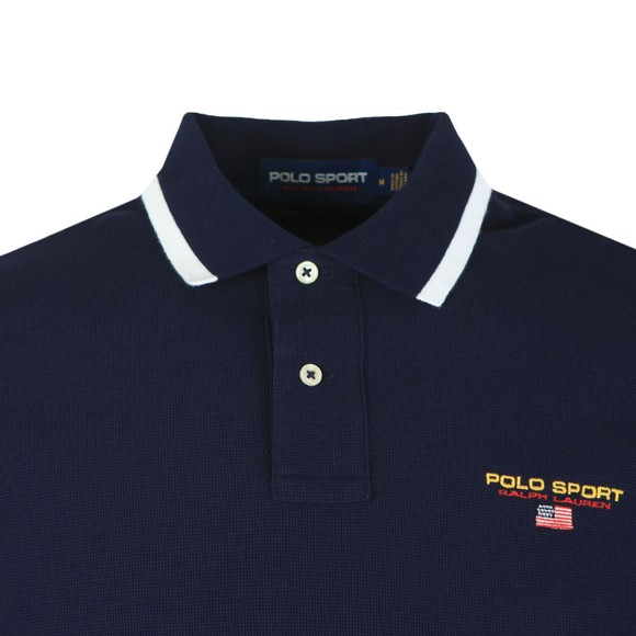 Polo Sport Ralph Lauren Mens Blue Chest Logo Polo Shirt