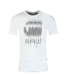G-Star Mens White Graphic 6 T-Shirt