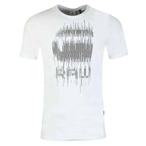 G-Star Mens White Graphic 6 T-Shirt main image