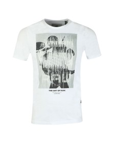 G-Star Mens White Graphic T-Shirt