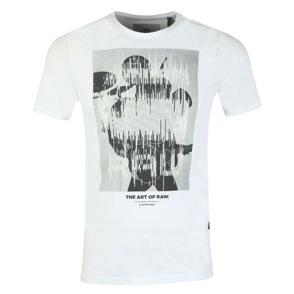 G-Star Mens White Graphic T-Shirt main image